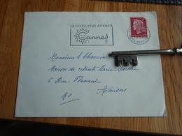 Enveloppe Timbrée De  1969    Au Chanoine D'AMIENS + Flamme - Le Soleil Vous Attend à Cannes. Hôtel De France à Cannes - Autres