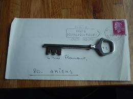 Enveloppe Timbrée De  1969    Au Chanoine D'AMIENS + Flamme -  Route Des Villages Fleuris - Autres