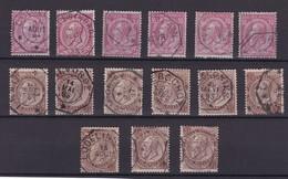 N° 46 Et 49 : Lot : Obliteration TELEGRAPHIQUE - 1884-1891 Leopoldo II