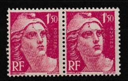 1945-47 Paire Y&T 712 Variété Cicatrice Sur Le Front N** - Curiosities: 1945-49 Mint/hinged