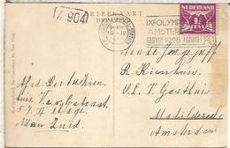 HOLANDA TARJETA CON MATASELLOS JUEGOS OLIMPICOS DE 1928 AMSTERDAM - Summer 1928: Amsterdam