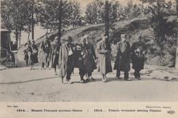 CPA (guerre 14-18 )   Blessés Français Quittant Reims  (b.bur Theme) - Guerre 1914-18