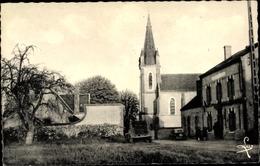 Cp Combreux Loiret, L'Église Et Route De L'Étand - Autres Communes