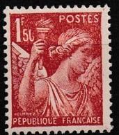 1944 Variété Y&T 652 0 De 50 Cassé N** - Curiosities: 1941-44 Mint/hinged