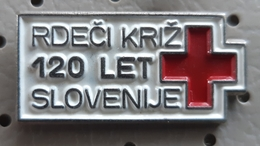 RED CROSS Slovenija 120 Years Slovenia Pin - Pins