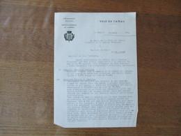 LE CATEAU LE 24 MARS 1942 COURRIER LE MAIRE PRESIDENT DE LA COMMISSION ADMINISTRATIVE DU SERVICE CHARBONNIER - Documents Historiques