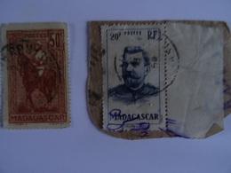 FRANCE - Ex Colonies - MADAGASCAR  - 1936 (Général J S Galliéni) - 1946 (Colonel JOFFRE) - Used SEE SCAN - Oblitérés