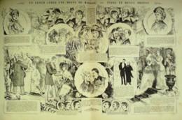CARICATURE-LUNCH APRES Une MESSE De MARIAGE, TYPES Et MENUS-1861-255 - Sin Clasificación