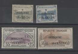 Indochine - Surchargé -  Série .Orphelin ( 1919 )  N°92/93 ( Neuf) N°90/91avec Charniére - Unclassified