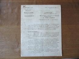 LILLE LE 14 FEVRIER 1942 LE PREFET DU NORD INSTRUCTIONS GENERALES SECTEURS CHARBONNIERS 12 PAGES - Historische Dokumente