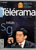 Serge Gainsbourg Revue Télérama N°2668 Mars 2001 Très Bon état - Télévision