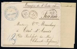 Indochine Lettre Avec Le Contenu CORPS EXPEDIT. TONKIN HANOI LE CHEF DE CORPSREG DE TIRAILLEURS TONKINOIS 1890 - Indocina (1889-1945)