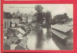 VIERZON 1915 LAVOIRS SUR LES BORDS DE L YEVRE CARTE EN TRES BON ETAT - Vierzon