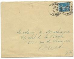 25c  SEMEUSE SUR ENVELOPPE /  PARIS POUR BREST / 1921 - Marcophilie (Lettres)