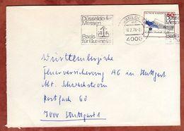 Brief, Lufthansa, Band-MS Duesseldorfer Messen Duesseldorf, Nach Stuttgart 1976 (91185) - BRD