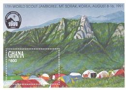 17th WORLD SCOUT JAMBOREE MONDIAL, MT SORAK KOREA 1991. GHANA HOLA BLOCK -LILHU - Ghana (1957-...)