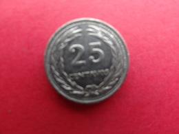 El  Salvador  25 Centavos 1977  Km 139 - El Salvador