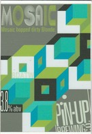 PIN UP BREWING CO  (BRIGHTON, ENGLAND) - MOSAIC DIRTY BLONDE - PUMP CLIP FRONT - Uithangborden