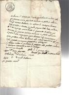 6 Gennaio 1743 Carta Bollata 30 Cent. COD Bu.276 - Decreti & Leggi