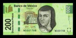 México 200 Pesos Juana De Asbaje 2013 Pick 125As Serie AS SC UNC - Mexiko