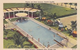 PISCINA DEL HOTEL JARAGUA, CIUDAD TRIJILLO. REPUBLICA DOMINICANA ENTIRE CIRCA 1950's NOT CIRCULATED -LILHU - Dominicaine (République)