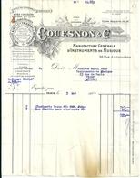 Facture Couesnon Et Cie Manufacture Générale D'instruments De Musique Paris Mai 1924 Clarinette Boehm Bec Ebonite - 1900 – 1949