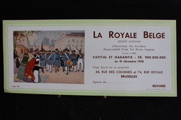 Buvard -  Buvard, La Royale Belge , 68, Rue Des Colonies Et 74 , Rue Royale  Bruxelles - Banque & Assurance