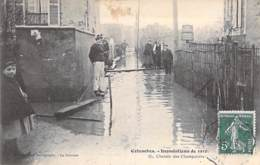 92 - COLOMBES ( Inondations 1910 - Crues De La Seine )  Chemin Des Champarons  ... CPA  - Hauts De Seine - Colombes