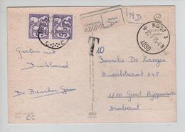 REF375/ CP M.D.(Franchise) C.Post.5 22/7/75 4090 Griffe T 10 > Groot-Bijgaarde Taxé 10 Frs TTx 69(2) C.Groot-Bijgaarde - Lettres