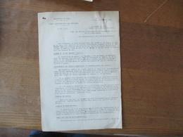 LILLE LE 24 AOUT 1942 BUREAU DEPARTEMENTAL DES CHARBONS  COUPONS NOTE DU PREFET DU NORD F.CARLES 5 PAGES - Historische Dokumente