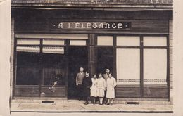 GIRONDE – LANGON – Carte Photo Magasin ''A L'ELEGANCE'' - France