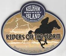 KELHAM ISLAND BREWERY  (SHEFFIELD, ENGLAND) - RIDERS ON THE STORM - PUMP CLIP FRONT - Letreros