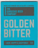 THE GORGEOUS BEER COMPANY  (MADELEY, ENGLAND) - GOLDEN BITTER - PUMP CLIP FRONT - Uithangborden
