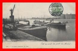 CPA FRANKFURT (Allemagne)..Hafen V. D. Untermainbrücke, Péniche...K788 - Frankfurt A. Main