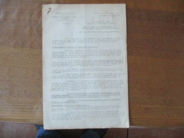 LILLE LE 24 SEPTEMBRE 1942 BUREAU DEPARTEMENTAL DES CHARBONS  NOTE DU PREFET DU NORD F.CARLES 5 PAGES - Historische Dokumente