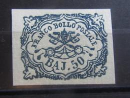 ITALY Italian States Italia Stati 1852 ROMAN PAPAL 50b Stamp Mint MH - VF - RefD54e10213 - Stato Pontificio
