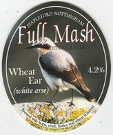 FULL MASH BREWERY  (STAPLEFORD, ENGLAND) - WHEAT EAR (WHITE ARSE) - PUMP CLIP FRONT - Letreros