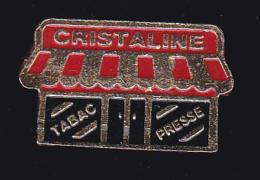 62329-Pin's- Tabac Presse Cristaline, Buraliste Situé à Courtisols.. - Villes