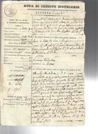 Nota Di Credito Ipotecario 1832  Bollo Reale Toscano COD Bu.280 - Decreti & Leggi