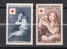 1954--Croix-Rouge --Lot De 2 Timbres Neufs SANS Charnière.....Gomme Intacte.....cote  30.50 €....à Saisir - Frankreich