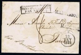 MARTINIQUE  LETTRE COMPLETE  DESINFECTEÉ, PAYS DES OUTREMER PAR NANTES - Martinique (1886-1947)