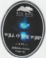 BIG BOG BREWING COMPANY  (SPEKE, ENGLAND) - WILL O THE WISP - PUMP CLIP FRONT - Letreros