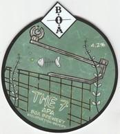 BOA BREWERY  (STOURPORT, ENGLAND) - THE 7 APA - PUMP CLIP FRONT - Letreros