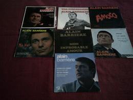 ALAIN  BARRIERE  °   COLLECTION DE 7 VINYLES  45 TOURS - Collections Complètes