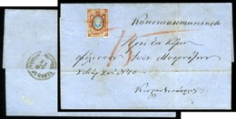 Russia. SG #21. Used On Cover To Constantinople. - Briefe U. Dokumente