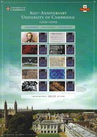 Gran Bretagna, 2009 CS6 800° Ann. Dell' Università Di Cambridge, Smiler, Con Custodia, Perfetto - Personalisierte Briefmarken