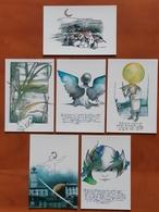 Tribute To Ezio Comparoni Lot De 6 Carte Postale - Advertising