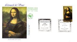 """"""" LA JOCONDE De LEONARD DE VINCI / MONA LISA """" Sur Enveloppe 1er Jour De 2008 N° YT ADH 153 Parfait état. FDC - Non Classés"""