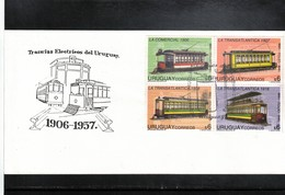 Uruguay 1998 Tramways Interesting Cover FDC - Tram