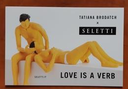 Love Is A Verb Carte Postale - Advertising